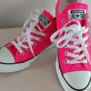 Hot Pink Converse sneakers